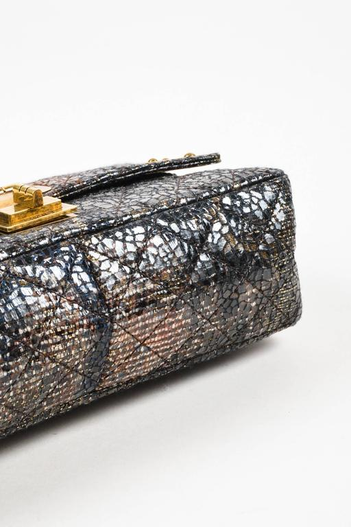 Chanel Special Edition Gray Coated Lacquered Tweed Gold Hardware Crossbody Bag 4