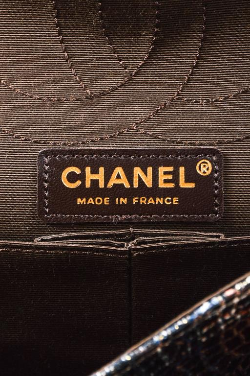Chanel Special Edition Gray Coated Lacquered Tweed Gold Hardware Crossbody Bag 8