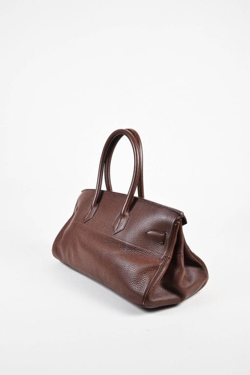 "Hermes ""Cafe"" Purple Clemence Leather GHW ""JPG Birkin"" Tote Bag 2"