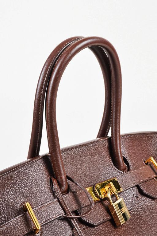 "Hermes ""Cafe"" Purple Clemence Leather GHW ""JPG Birkin"" Tote Bag 6"