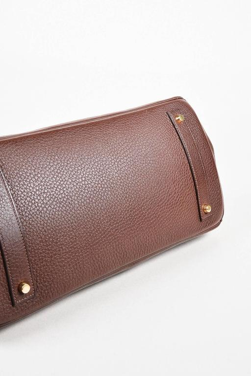 "Hermes ""Cafe"" Purple Clemence Leather GHW ""JPG Birkin"" Tote Bag 3"
