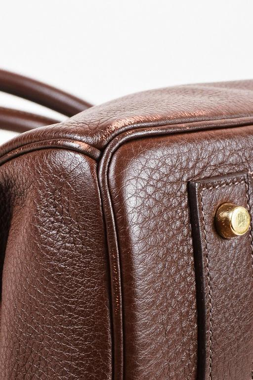 "Hermes ""Cafe"" Purple Clemence Leather GHW ""JPG Birkin"" Tote Bag 4"
