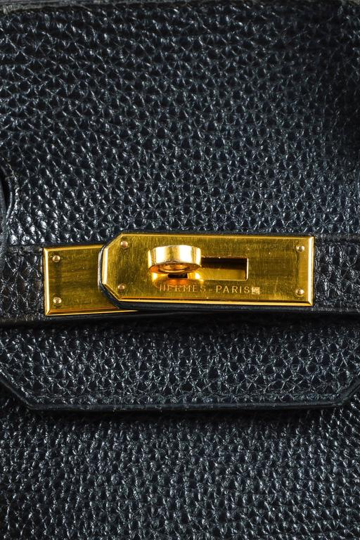 "Hermes Black Togo Leather Gold Plated Hardware ""Birkin"" 35 cm Bag 6"