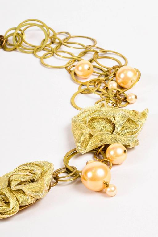susanna Galanis Vintage Brass Mother Of Pearl Ribbon