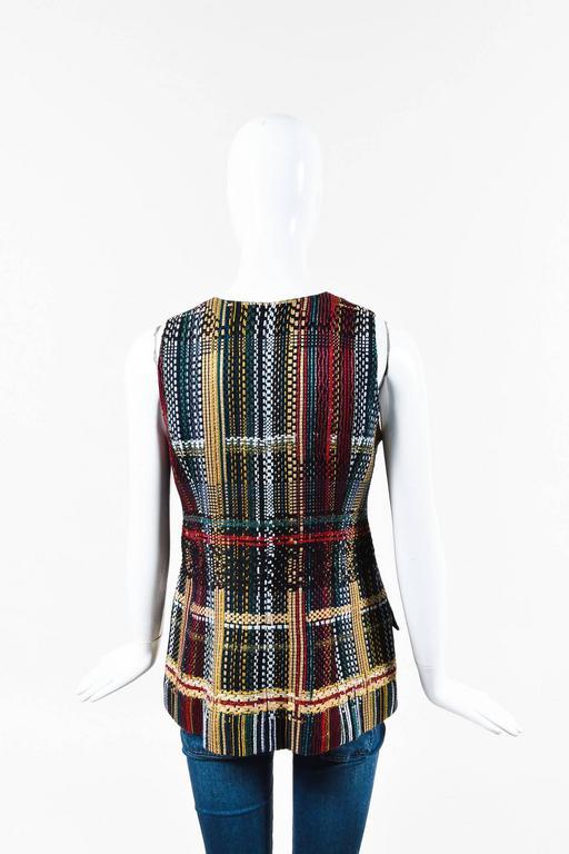 Chanel NWOT Runway 2015 Multicolor Tweed Cotton Sleeveless Buttoned Vest SZ 44 2