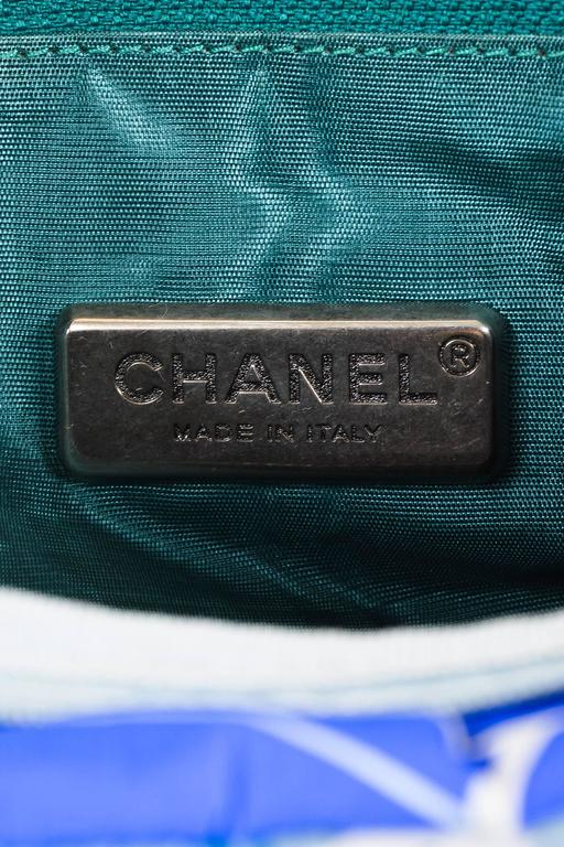 """Chanel Black Multi Leather Quilted Rolling Duffle Luggage """"Paris-New York"""" Bag 9"""