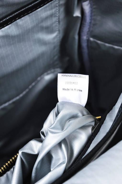 MCM x Stefan Strumbel Limited Edition Tan Black Leather Medium Backpack 9