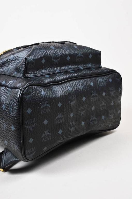 MCM x Stefan Strumbel Limited Edition Tan Black Leather Medium Backpack 4