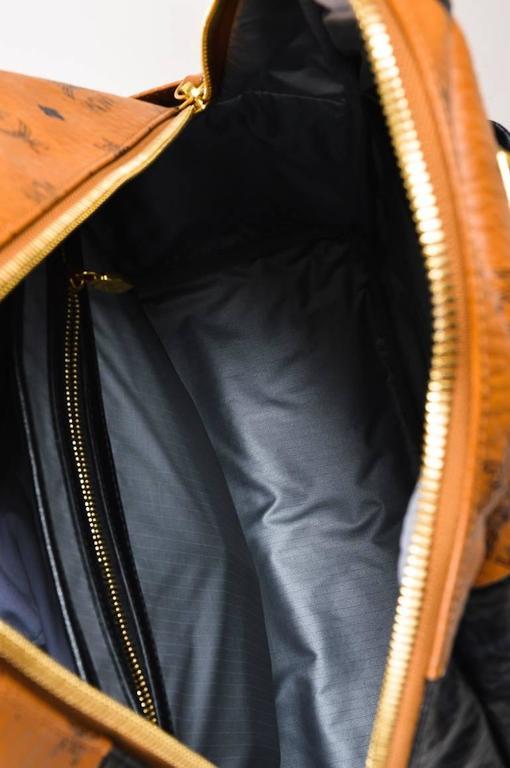MCM x Stefan Strumbel Limited Edition Tan Black Leather Medium Backpack 7