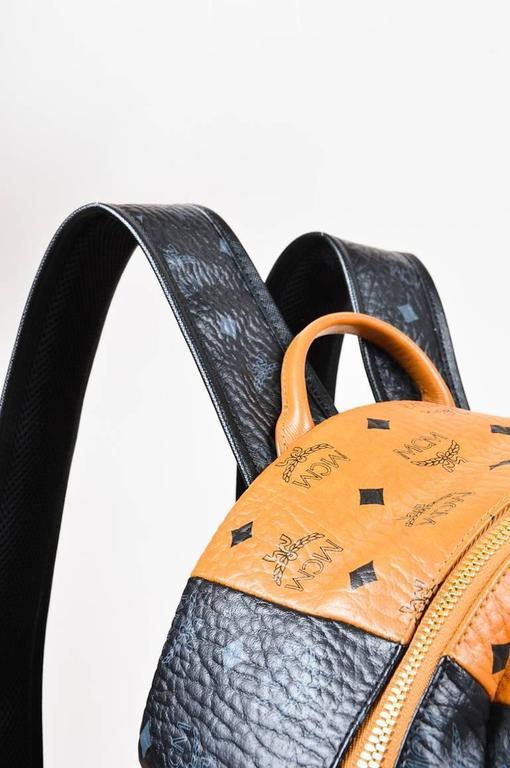 MCM x Stefan Strumbel Limited Edition Tan Black Leather Medium Backpack 6
