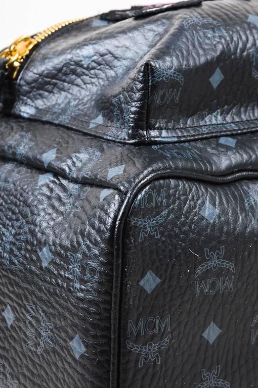 MCM x Stefan Strumbel Limited Edition Tan Black Leather Medium Backpack 5