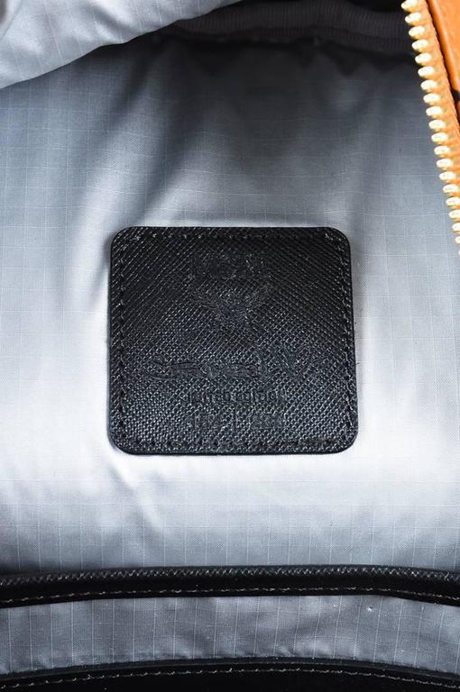 MCM x Stefan Strumbel Limited Edition Tan Black Leather Medium Backpack 8