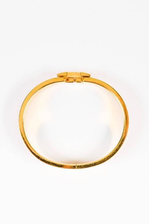 hermes gold plated coral orange enamel quot clic h pm quot hinge