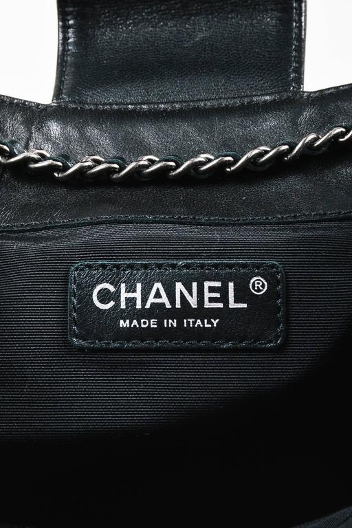 "Chanel Black Lambskin Leather Quilted ""Paris Dallas"" Drawstring Fringe Bag 8"