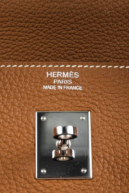 "Hermes ""Gold"" Togo Leather Gold Plated Hardware ""Birkin"" 40 cm Bag 7"