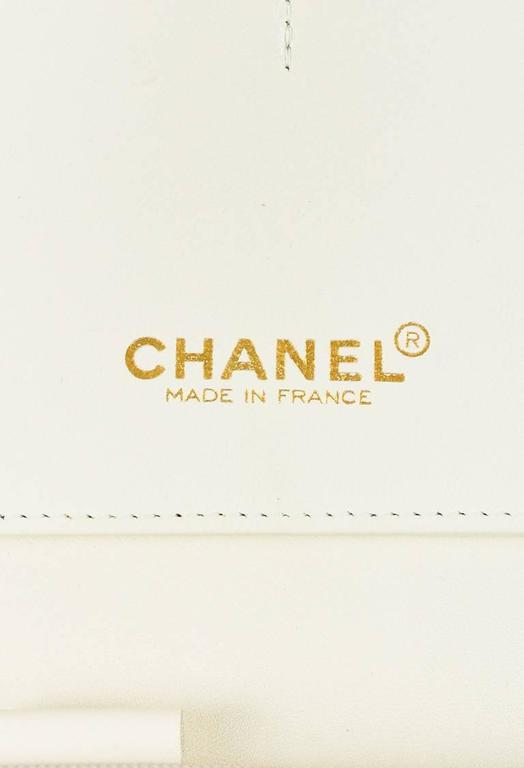 Chanel 01A Tan Rose Gold Leather Tweed Camellia Clutch 9