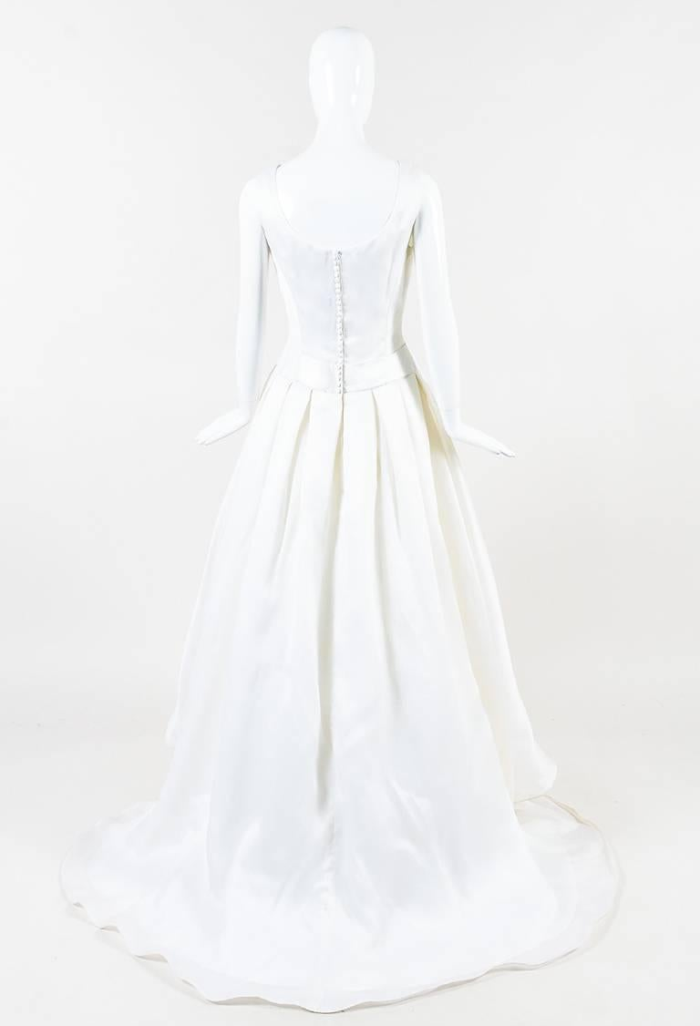 christian dior white silk pleated a line bridal gown at 1stdibs Boho Wedding Gowns