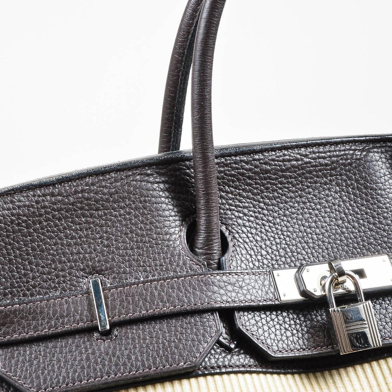 hermes brown togo leather 35cm birkin handbag shw