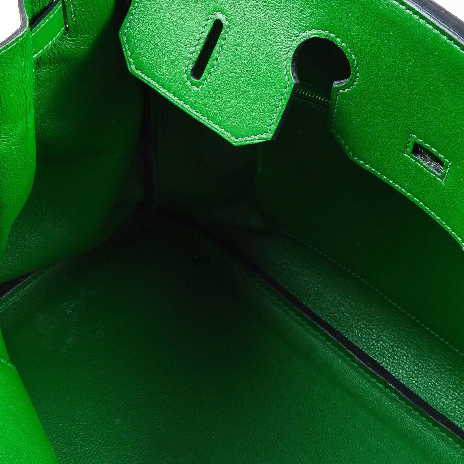 Hermes Iconic Green SHW Vert Bengale Veau Swift Leather 35cm ...