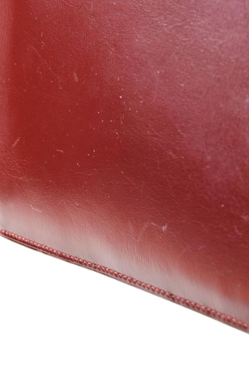 Vintage Hermes Red Maroon Tan Leather Color Block Quot Baccara