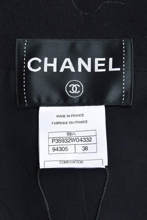 Chanel 09A Black Multi Cashmere Lamb Fur Trim Bead Embellished LS Jacket SZ 38 4