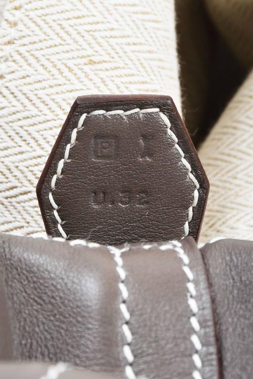 "Hermes 'Vert de Gris' Gray Barenia Leather ""Relax Bolide"" 40cm Tote Bag 6"