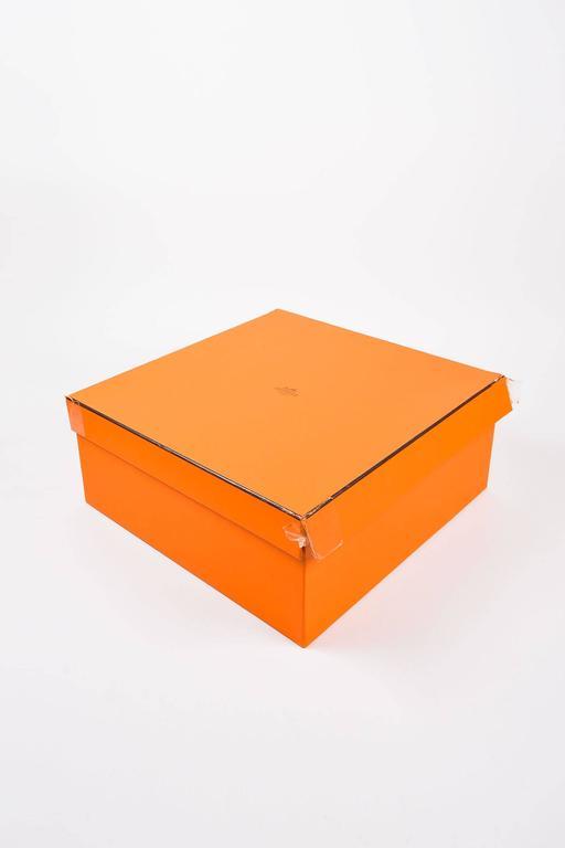 "Hermes 'Vert de Gris' Gray Barenia Leather ""Relax Bolide"" 40cm Tote Bag 8"