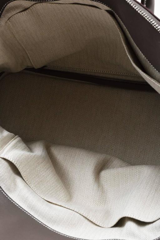 "Hermes 'Vert de Gris' Gray Barenia Leather ""Relax Bolide"" 40cm Tote Bag 10"