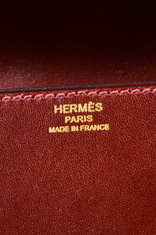 acquistare hermes borsa Birkin - Hermes Oxblood Red Box Calf Leather Gold Tone Stud \u0026quot;Medor 29cm ...