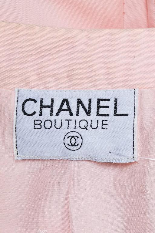 Chanel Light Pink Poplin Button Up Tailored Long Sleeve Blazer Jacket 5