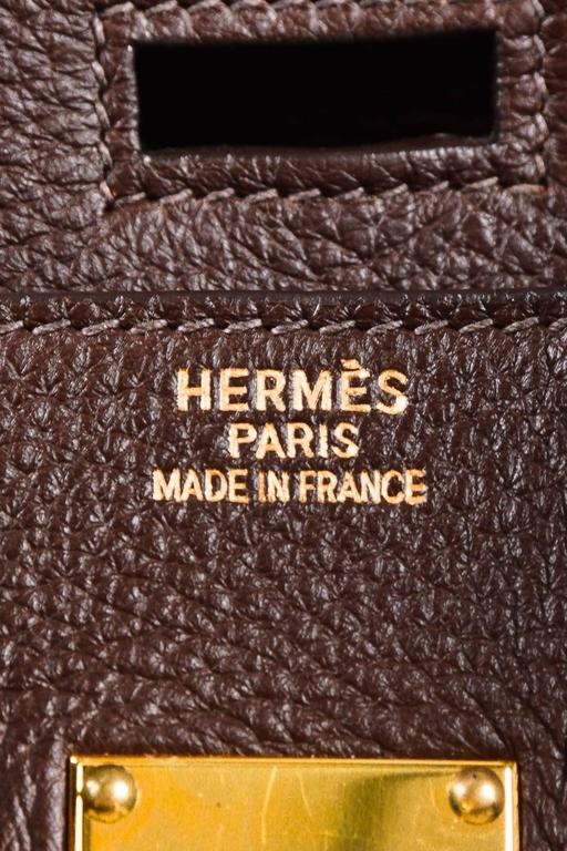 "Hermes ""Cafe"" Purple Clemence Leather GHW ""JPG Birkin"" Tote Bag 9"