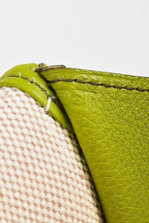 "Hermes Vert Anis Green Togo Leather ""Jige PM"" Flap Clutch Bag 7"