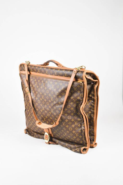 vintage louis vuitton the french luggage company coated canvas  u0026quot lv u0026quot  garment bag for sale at 1stdibs