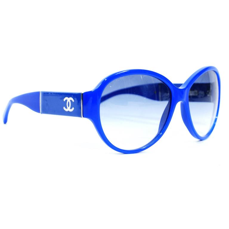 Chanel Royal Blue Sunglasses For Sale at 1stdibs