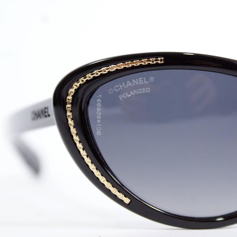 Chanel Cat-Eye Black Sunglasses 5