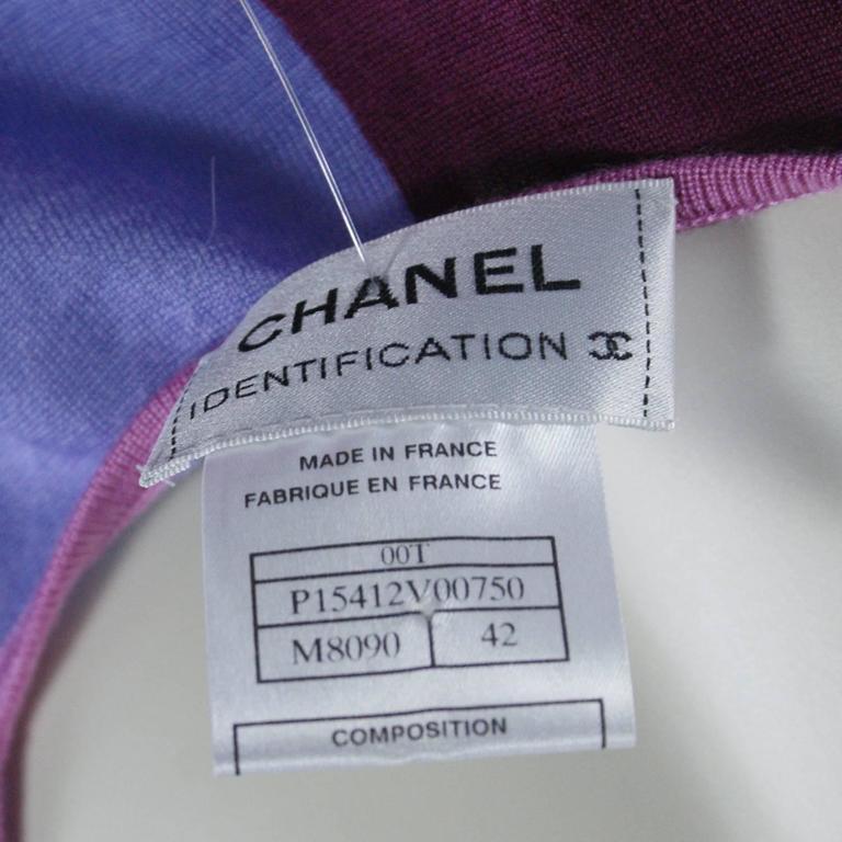 Chanel Pink Checkered Silk Knit Tank  2