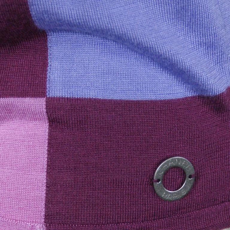 Chanel Pink Checkered Silk Knit Tank  6
