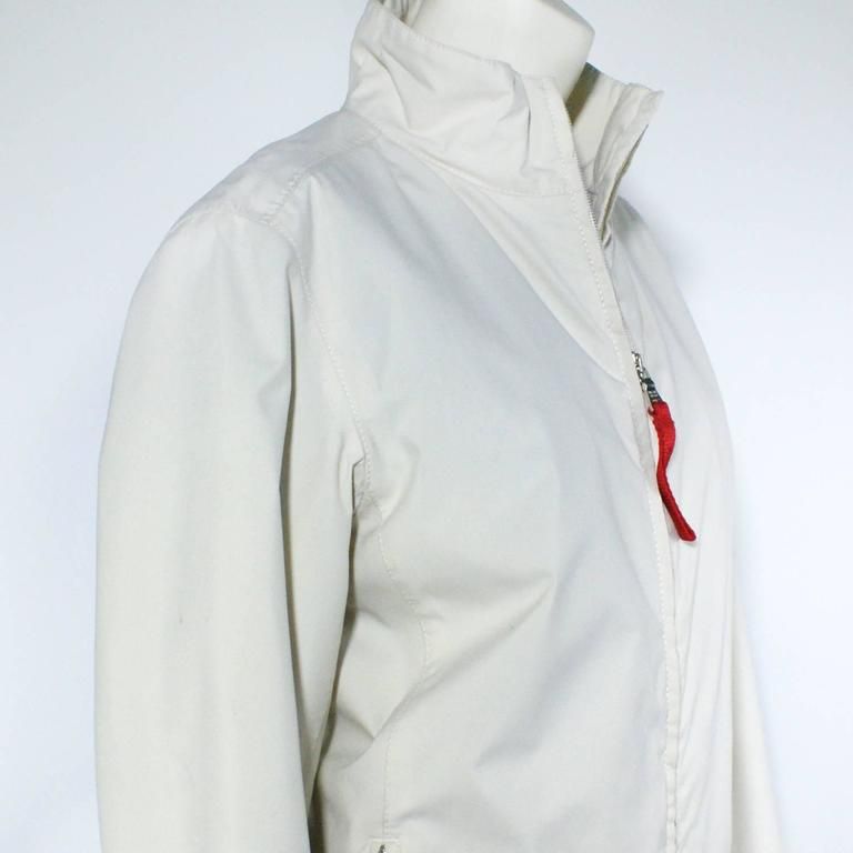 2d977d41a494 Prada White Gore-Tex Sports Jacket For Sale at 1stdibs