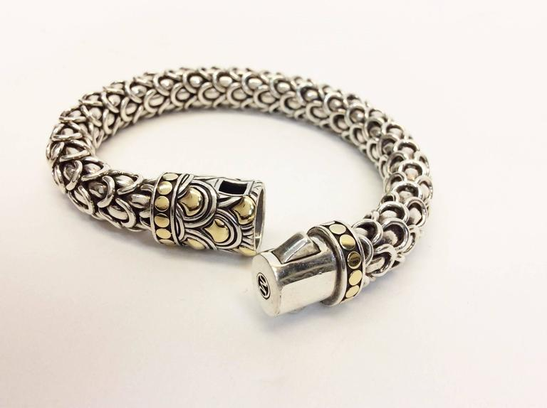 John Hardy Legnds Naga Station Sterling Silver And 18k