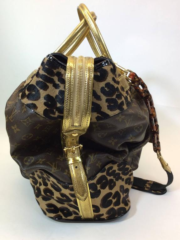 louis vuitton exclusive monogrammed leopard steamer bag at 1stdibs