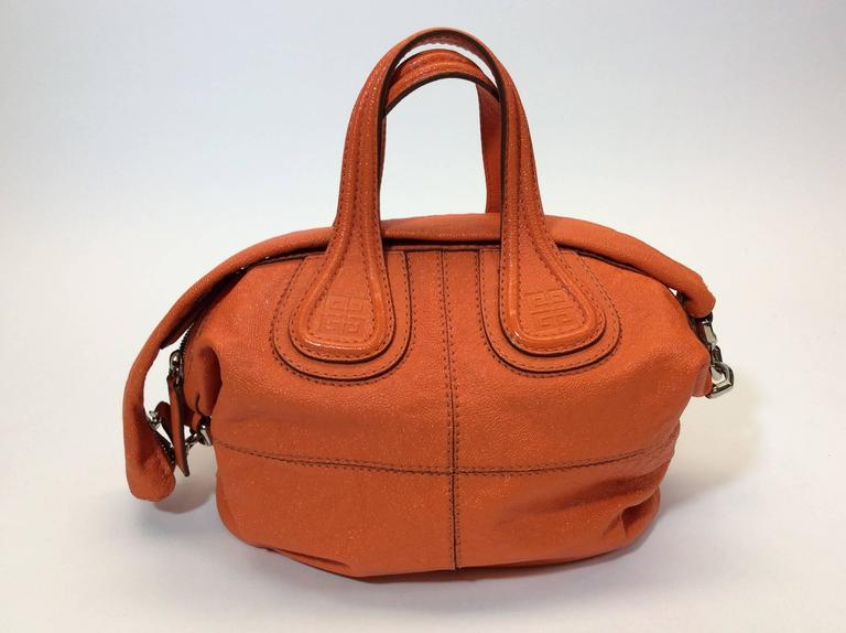 192af5452f21 Givenchy Orange Leather Hobo Bag In Excellent Condition For Sale In  Narberth