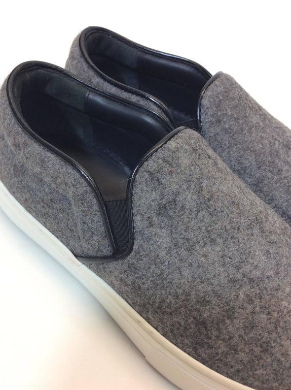 Celine Skate Slip on Grey Felt Sneakers For Sale 1