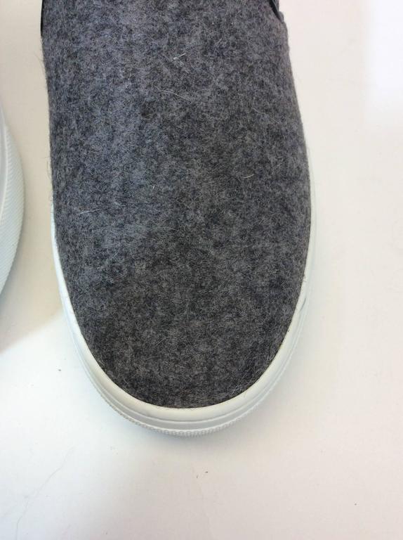 Women's Celine Skate Slip on Grey Felt Sneakers For Sale