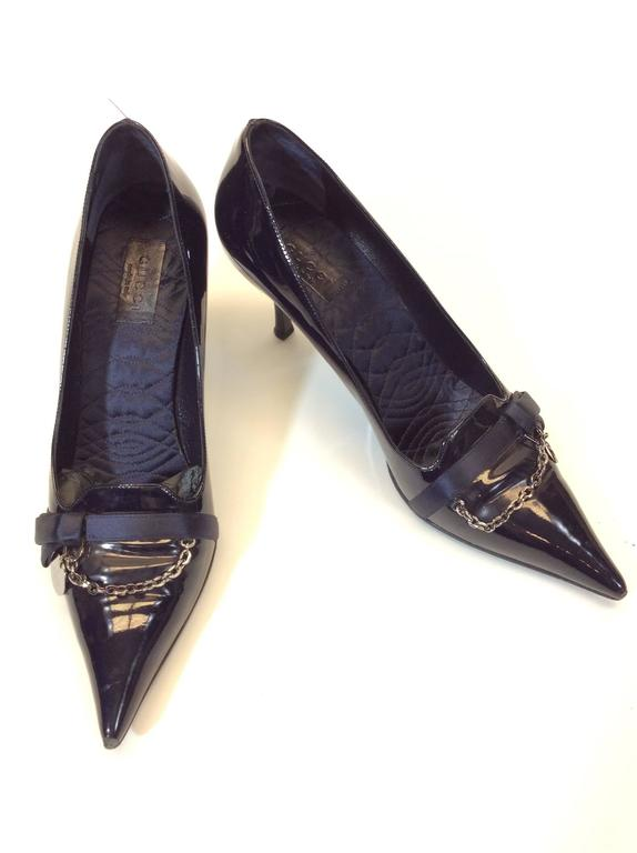 Gucci Navy Patent Leather