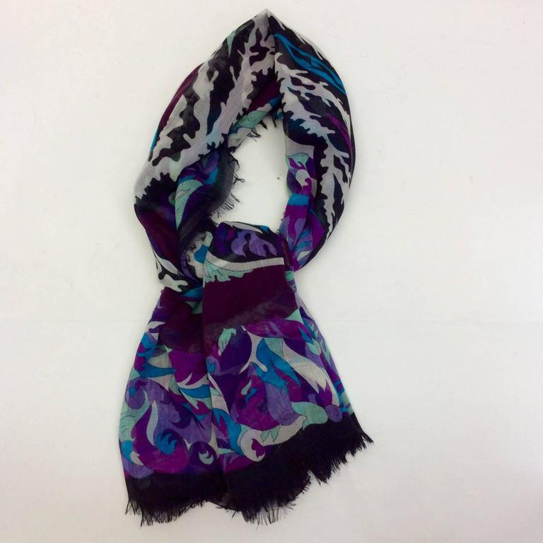 emilio pucci cool toned print scarf at 1stdibs
