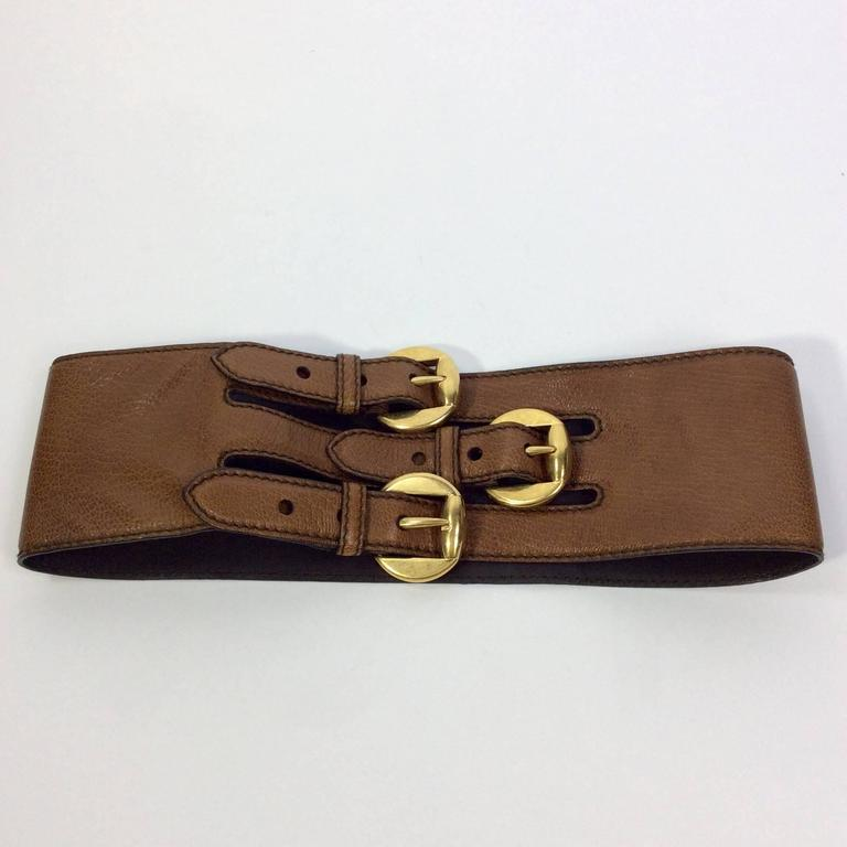 Alexander McQueen Triple Buckle Belt 2