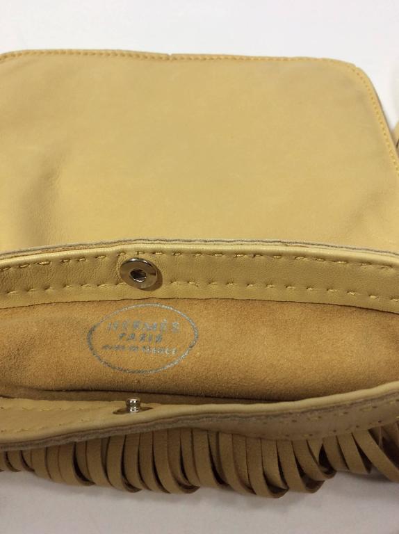 Rare Vintage Hermes Tan Fringe Crossbody Leather Satchel ...