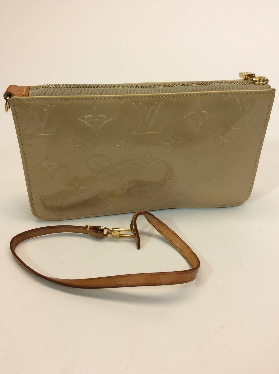 louis vuitton small tan patent leather monogrammed handbag for sale at 1stdibs
