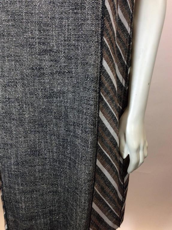 Derek Lam Metallic Tweed Dress with Leather Detail 3