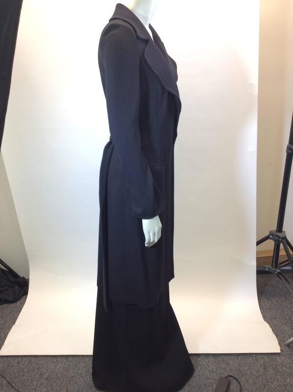 St John Black Knit Skirt set  2